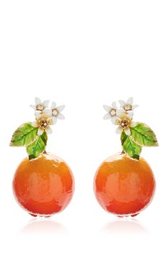 Orange Resin Earrings by DOLCE & GABBANA for Preorder on Moda Operandi