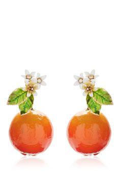 Orange Resin Earrings by DOLCE & GABBANA for Preorder on Moda Operandi