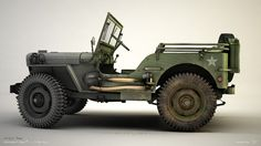 3-D Jeep Willys by zsozs on DeviantArt