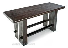 Reclaimed Sustainable Woods Are Handcrafted Into A Unique Modern Counter Or  Bar Height Table. This Modern Bar Height Table Is Available Custom Sizes.