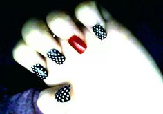Nails... would be cute with navy blue (instead of black) for July.
