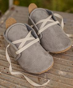 Look at this Gracious May Gray Suede Oxford on #zulily today!