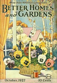 Love pansies and old magazines...