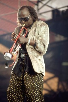 Miles Davis in concert at the Beacon Theatre, New York in 1986.