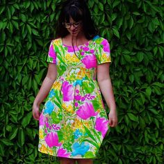 The Orla dress by frenchnavynow in cotton. No One Loves Me, First Love, Fabric, Pattern, Cotton, Vintage, Inspiration, Dresses, Fashion