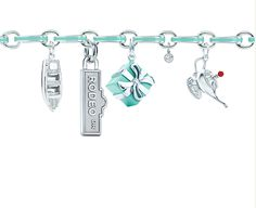 The blue link Tiffany & Co. Charm Bracelet