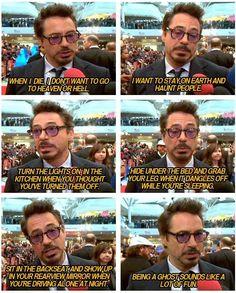 Robert Downey Jr on death.