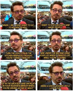 Robert Downey Jr on death.