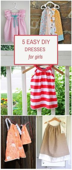 Easy ways to make a cute and simple dress for little girls.
