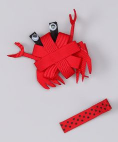 Take a look at this Red Crab Clip Set by Couture Hair Bows on #zulily today!