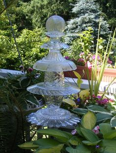 Already collecting pieces for thes....garden glass art