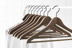 $5 /8 pk - BUMERANG clothes hanger - should treat clothes better than the good old plastic.
