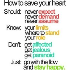 How to save your heart 101.