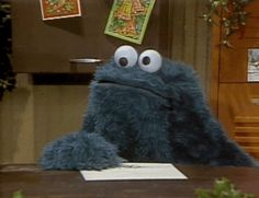 Confused Cookie Monster gifs gif funny laughter cool images cookie monster sesame street gifs kids show confused look