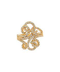 Loving this Cubic Zirconia & Gold Swirl Ring on #zulily! #zulilyfinds