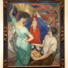 """Diego Rivera, """"Adoration of the Virgin and Child,"""" 1912–13, oil on canvas in """"Paint the Revolution"""" @philamuseum"""