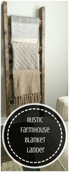 This would also be great in a bathroom for towels! #farmhouse #aff #rusticdecor Farmhouse Decor / Rustic Decor / Primitive Decor /