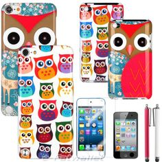Owl Color Design Hard Snap-On Case Cover for iPod Touch 4 4th Touch 5 5th GEN