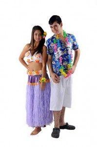 modelo de fantasia havaiana