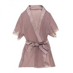 Buy Fleur of England luxury lingerie - Fleur of England Truffle Kimono | Journelle Fine Lingerie