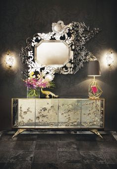 The astonishing Rêve Mirror by KOKET | http://www.bykoket.com/projects/ #interiordesign #designideas #interiordesigntrends #luxurydesign #koket #interiordesignideas #exclusivedesign