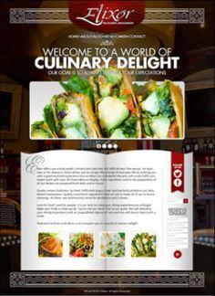 A website I designed I designed for Elixor, a fine dining establishment.