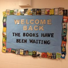 Welcome back Bulletin Board 2016 + # back_to_school_bulletin_boards _. - Welcome back Bulletin Board 2016 + # back_to_school_bulletin_boards … - School Library Displays, Middle School Libraries, Library Themes, Library Activities, Elementary Library, Library Ideas, Reading Bulletin Boards, Back To School Bulletin Boards, Pto Bulletin Boards