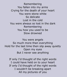 Pictures Of You The Cure Lyrics Az Lyrics The Cure Lyrics Lyric Poem