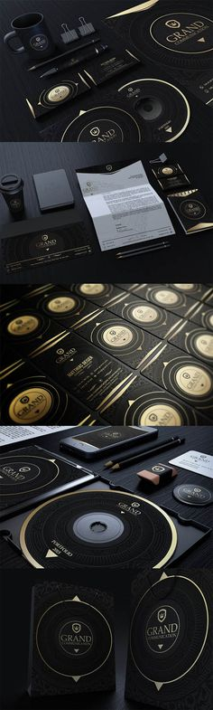Gold And Black Corporate Identity » Free Special GFX Posts Vectors AEP Projects PSD Web Templates