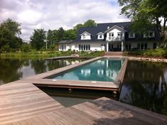 Salzwasser Pool im Teich