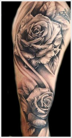 im not a big fan of flower tattoos, but i really like this one.