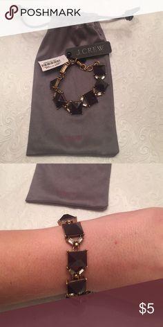 NWT J. Crew bracelet J. Crew gold and brown bracelet. Comes with J. Crew pouch! J. Crew Jewelry Bracelets