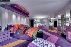 purple-bathroom- My dream room as a kid.....