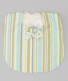 Ward off mealtime spills with this whimsically fun bib. Precious accents and easy care instructions will have this stain defender as the guest of honor for every course.7'' x 9''Cotton / polyesterMachine wash; tumble dryMade in the USA