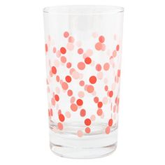 Pink Dots Party Glass. I would love a set of these.