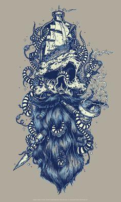 Humantree.com - - The art of Jeral Tidwell | News » 11-22-13 SEA CAPTAIN ART PRINT