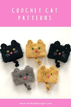 Can you handle the cuteness of this cat cozy crochet pattern? Make one for all the cat lovers in your life and they will think you are paw-some. You will never have so much fun crocheting. Crochet Coffee Cozy, Coffee Cup Cozy, Crochet Cozy, Crochet Gifts, Crochet For Kids, Tea Cozy, Crochet Cat Pattern, Crochet Mask, Cat Crochet