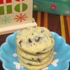 Dark Chocolate Chunk Eggnog Cookies