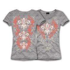 "S/S TRIPLE FLEUR T-SHIRT... Tri fun! $28.00 + FREE shipping when you enter the coupon code ""PINTEREST"" during checkout online. #fleurdelis #LSU #LA #madeinusa #fashion"