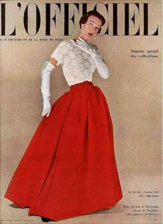 Balenciaga – L'Officiel Magazine. Oct 1950