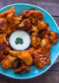 Soft and tender on the inside and crispy on the outside these cauliflower buffalo 'wings' are so close to the