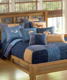 This Denim Square Quilt Set is perfect! #zulilyfinds