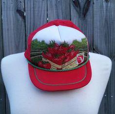 Vintage 80s Florida Strawberry Farmer Spring by PinkCheetahVintage