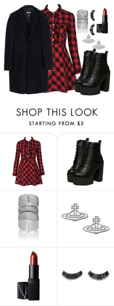"""""""Nana Osaki inspired uni look"""" by limbria on Polyvore featuring WithChic, NARS Cosmetics, MSGM, women's clothing, women, female, woman, misses and juniors"""