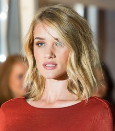 Rosie Huntington-Whiteley's tousled lob