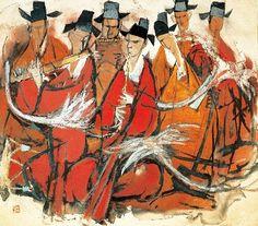 김기창, <아악의 리듬>,1967