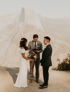 Rochelle and Jeffrey had planned a bigger wedding in San Francisco but changed their plans last minute to a Yosemite elopement at Glacier point. We did their elopement at Glacier point and ended their yosemite elopement at Taft point #yosemiteelopement #yosemiteelopementideas #weddingphotography Elope Wedding, Wedding Ceremony, Yosemite National Park, National Parks, Taft Point, Glacier Point, Yosemite Wedding, Happy Dance, Sunset Photos