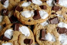 smores cookies-oh, yummy! - Click image to find more Food & Drink Pinterest pins