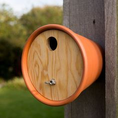 homemade bird houses | Home > Outdoor Living > Wildlife Homes > Flower pot bird house