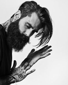 Seriously has the best beard, hair & ink.